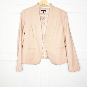Eileen Fisher Blush Pink Two Pocket Short Blazer